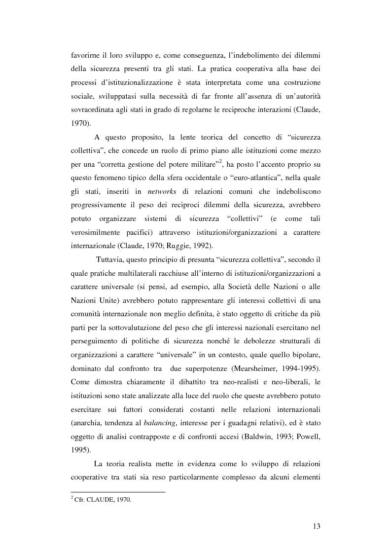 Anteprima della tesi: La gestione della sicurezza europea tra governance e frammentazione. Il ruolo delle istituzioni e il caso del Kossovo, Pagina 8