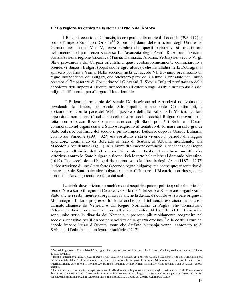 Anteprima della tesi: Kosovo. Alla scoperta di cosa celano le ceneri della guerra., Pagina 2
