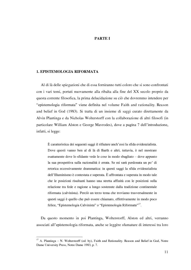 Anteprima della tesi: Alvin Plantinga: Epistemologia Riformata e Teismo, Pagina 12