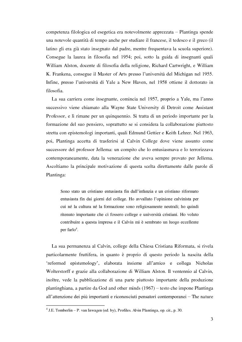 Anteprima della tesi: Alvin Plantinga: Epistemologia Riformata e Teismo, Pagina 4