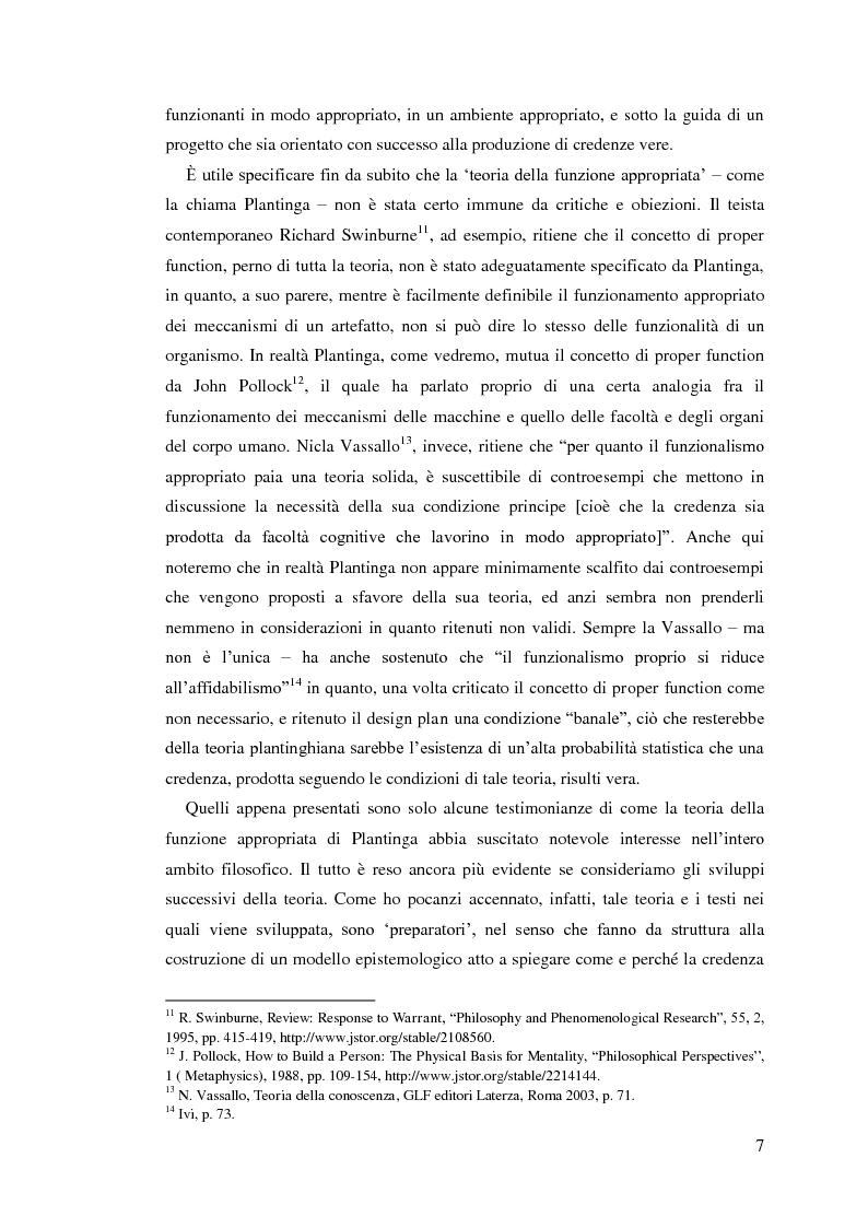 Anteprima della tesi: Alvin Plantinga: Epistemologia Riformata e Teismo, Pagina 8