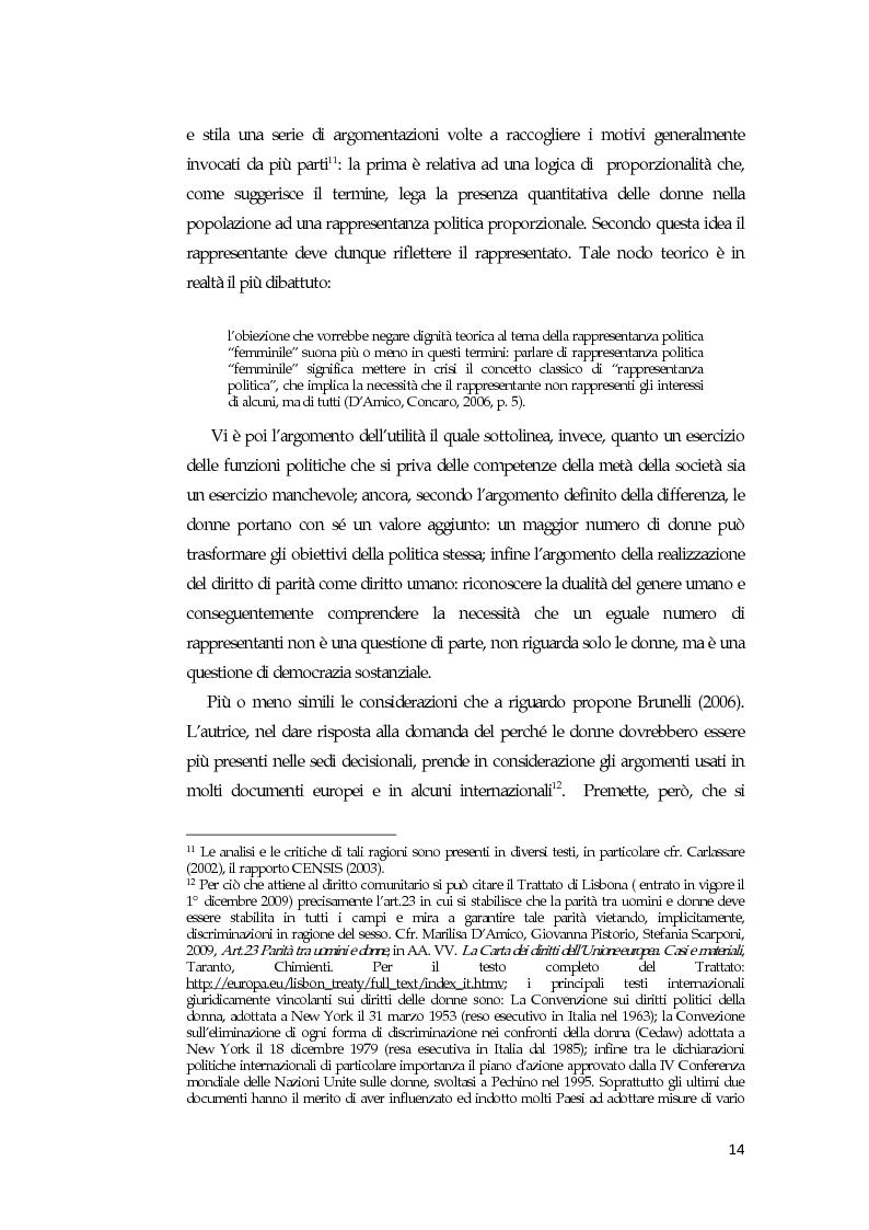 Anteprima della tesi: La comunicazione mediatica delle donne in politica: quali spazi e quali linguaggi, Pagina 10