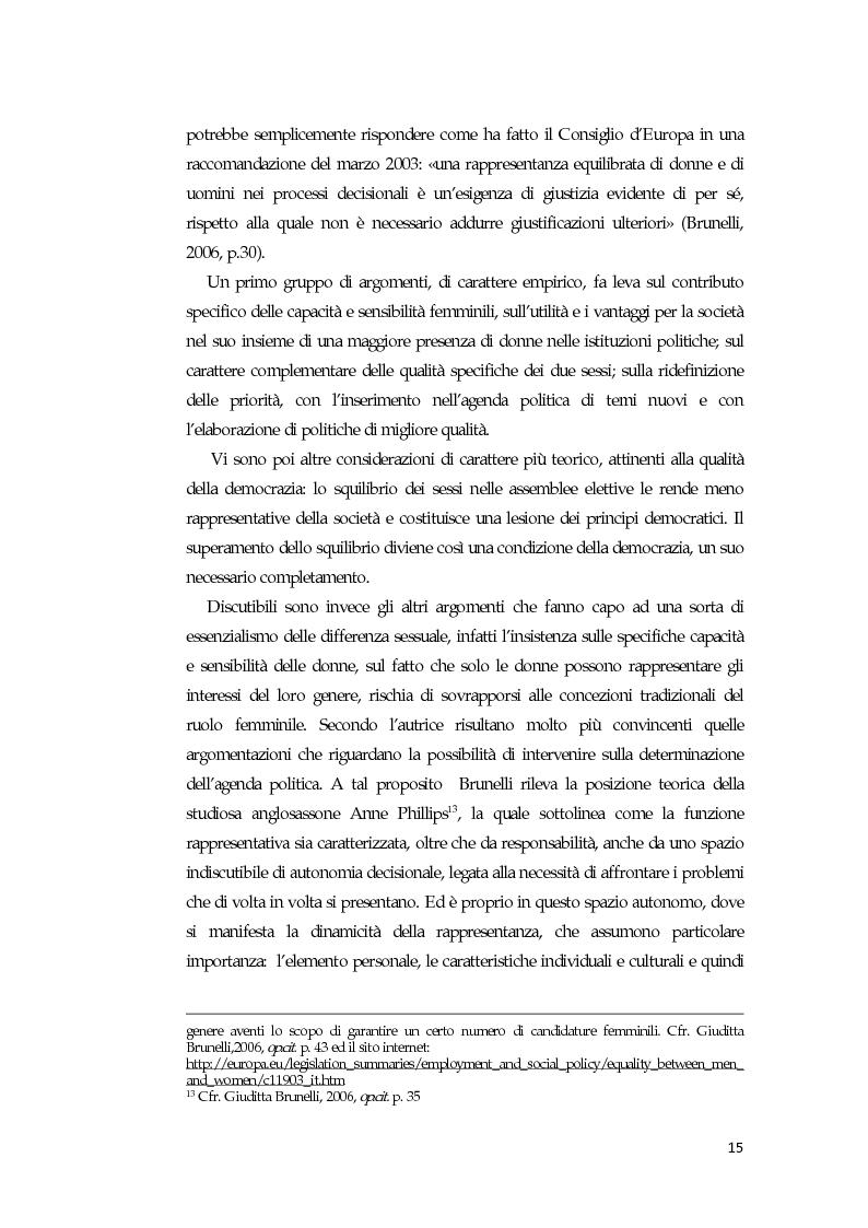 Anteprima della tesi: La comunicazione mediatica delle donne in politica: quali spazi e quali linguaggi, Pagina 11