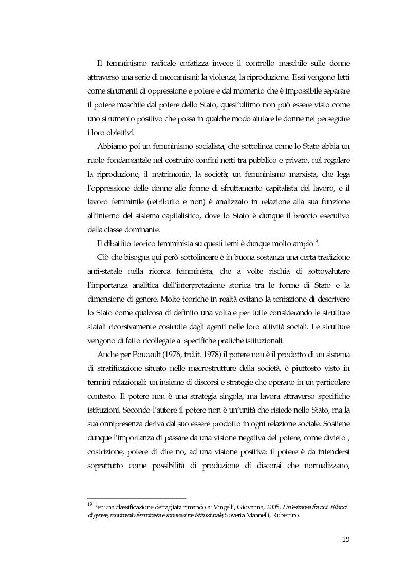Anteprima della tesi: La comunicazione mediatica delle donne in politica: quali spazi e quali linguaggi, Pagina 15
