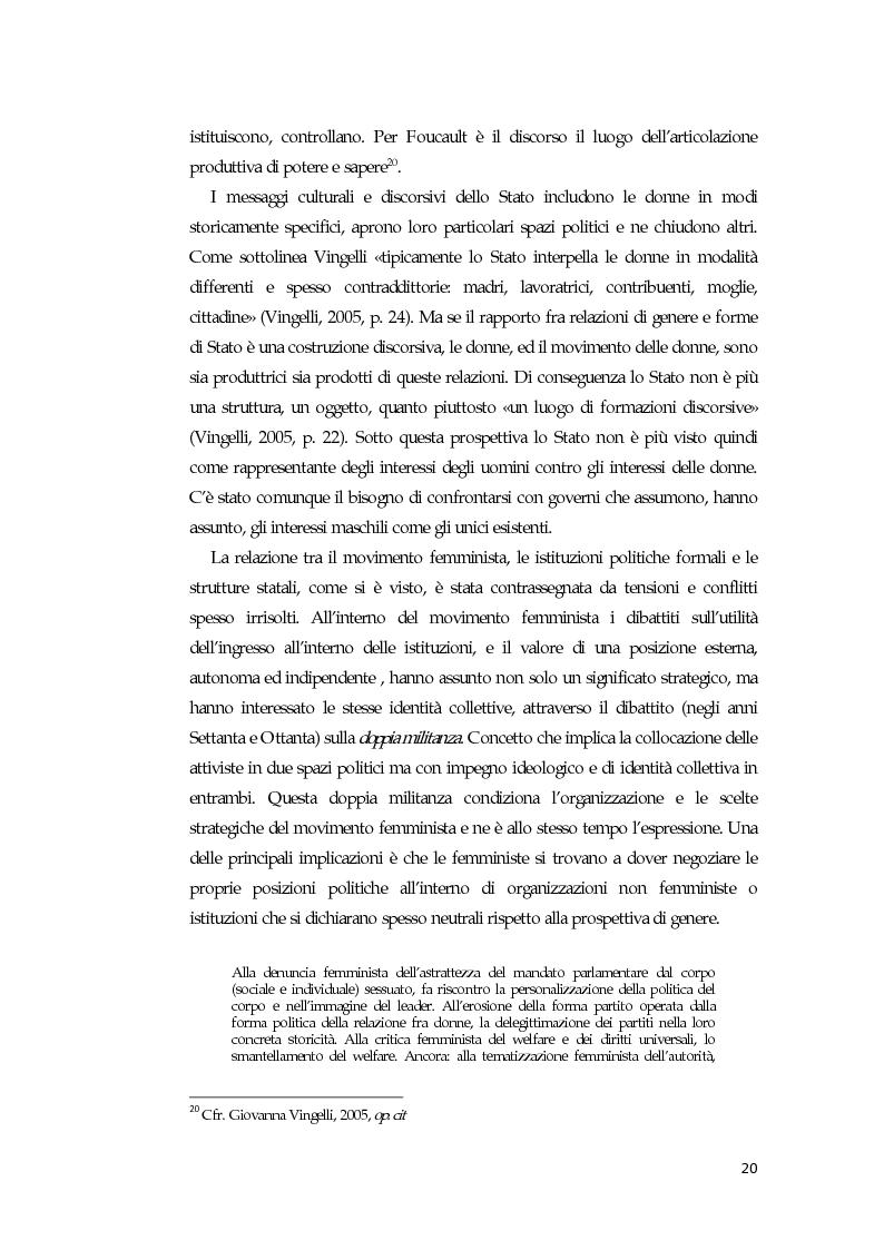Anteprima della tesi: La comunicazione mediatica delle donne in politica: quali spazi e quali linguaggi, Pagina 16