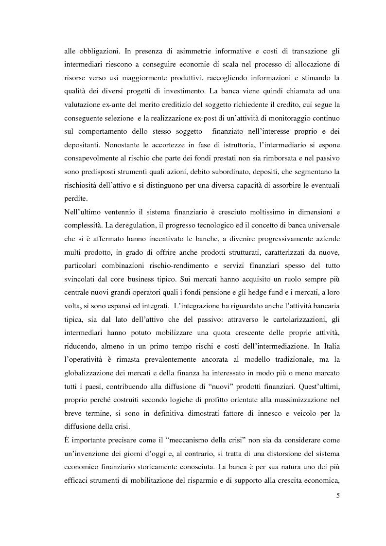 Anteprima della tesi: L'adeguatezza patrimoniale del sistema bancario tra crisi e Basilea 3, Pagina 10