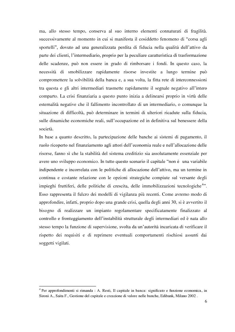 Anteprima della tesi: L'adeguatezza patrimoniale del sistema bancario tra crisi e Basilea 3, Pagina 11