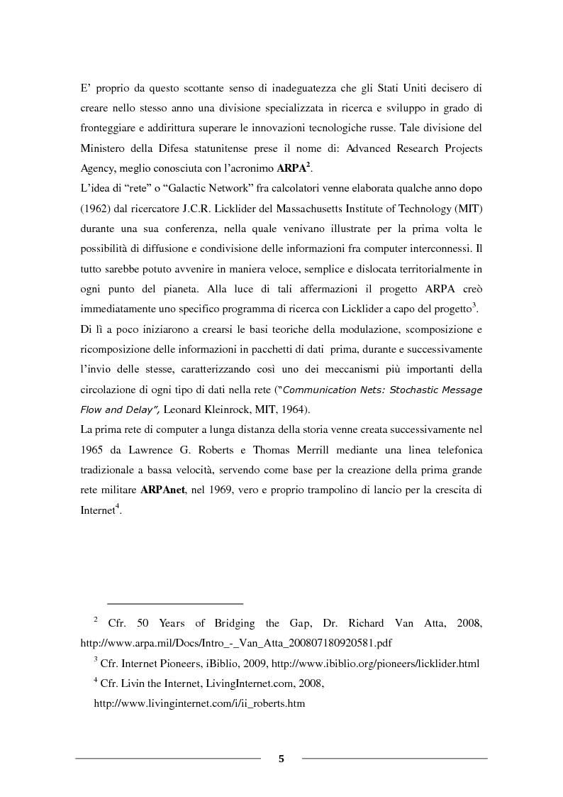 """Anteprima della tesi: La Condivisione Globale: Web 2.0, Social Networks, """"Faceboom"""", Censure e Ipotesi sul futuro della rete., Pagina 4"""