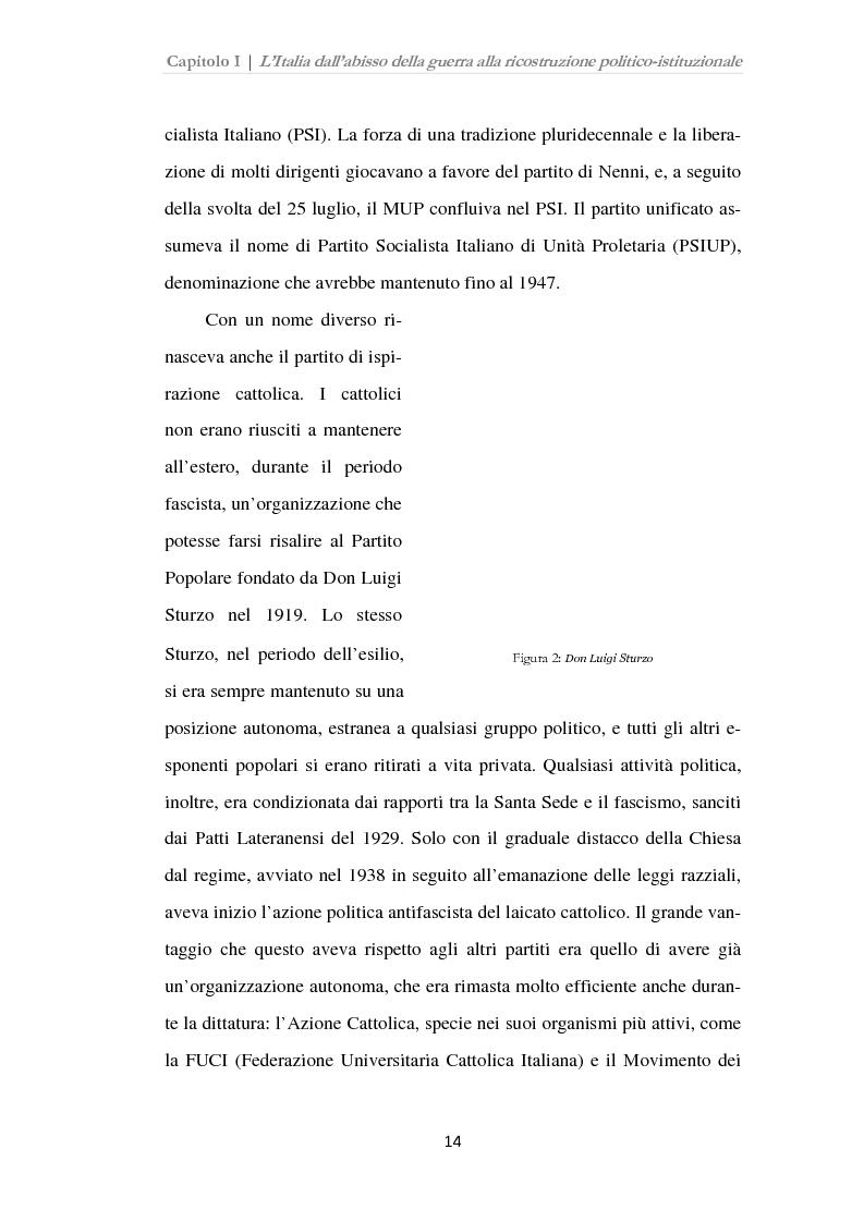 Anteprima della tesi: Istituzioni, opinione pubblica e stampa nella transizione tra Monarchia e Repubblica, Pagina 10