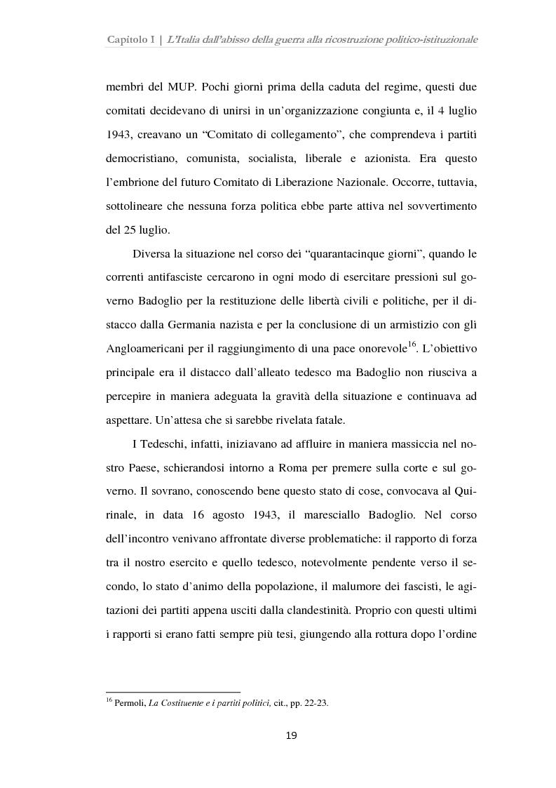 Anteprima della tesi: Istituzioni, opinione pubblica e stampa nella transizione tra Monarchia e Repubblica, Pagina 15