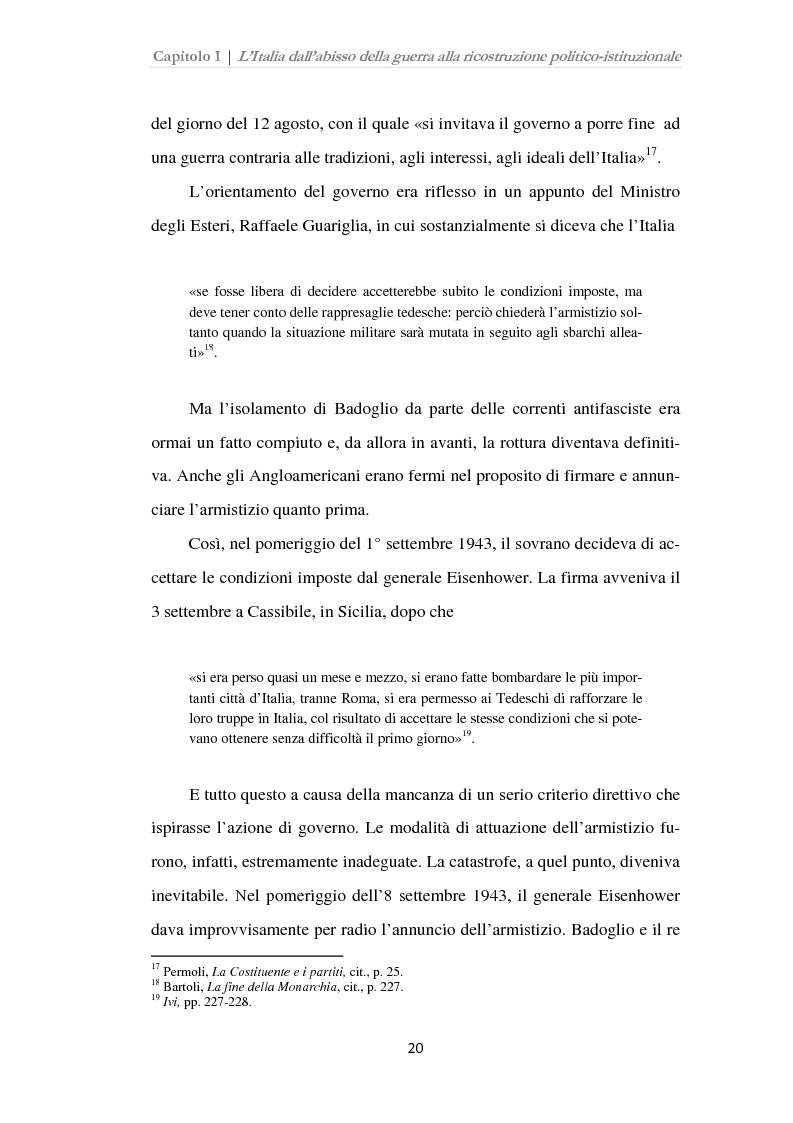 Anteprima della tesi: Istituzioni, opinione pubblica e stampa nella transizione tra Monarchia e Repubblica, Pagina 16