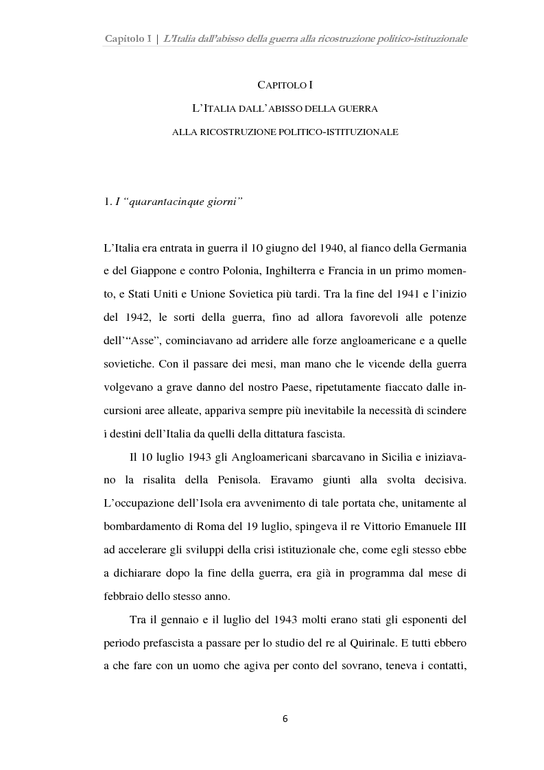 Anteprima della tesi: Istituzioni, opinione pubblica e stampa nella transizione tra Monarchia e Repubblica, Pagina 2