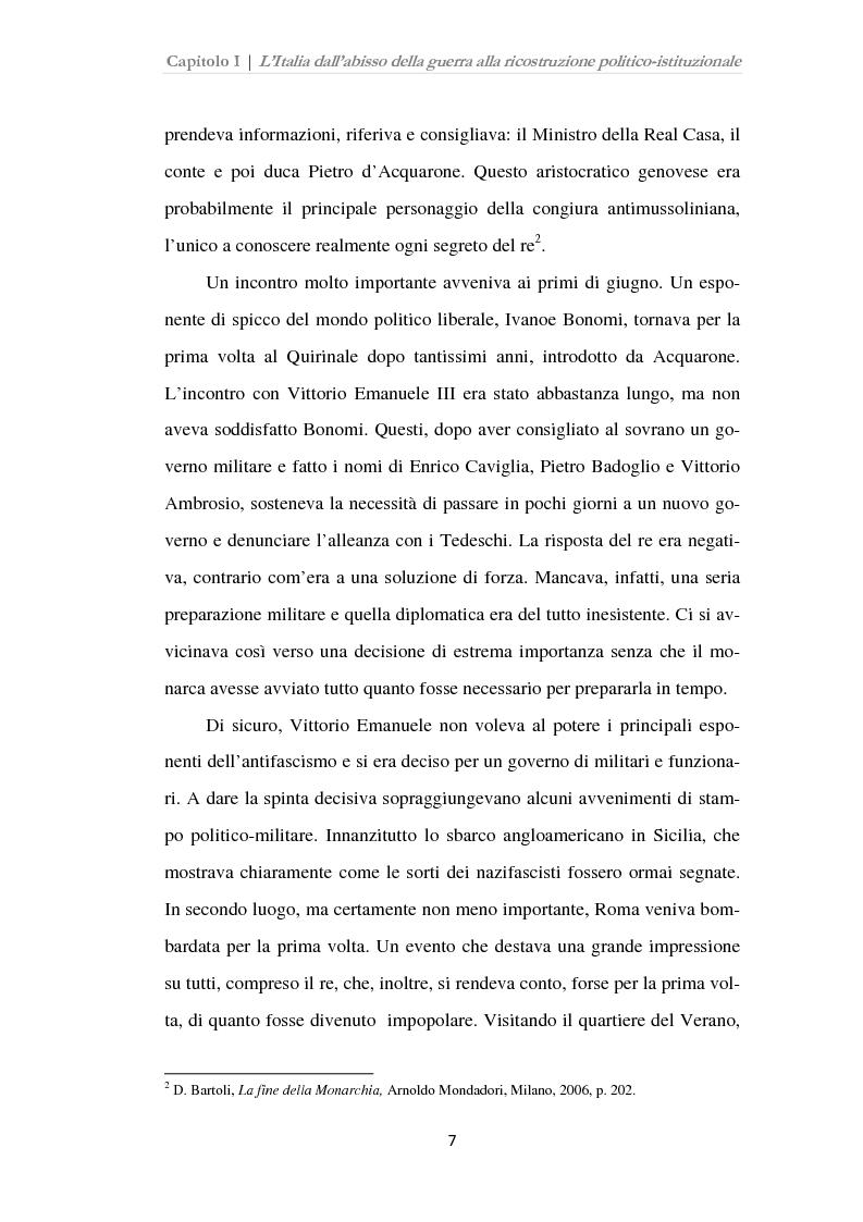 Anteprima della tesi: Istituzioni, opinione pubblica e stampa nella transizione tra Monarchia e Repubblica, Pagina 3