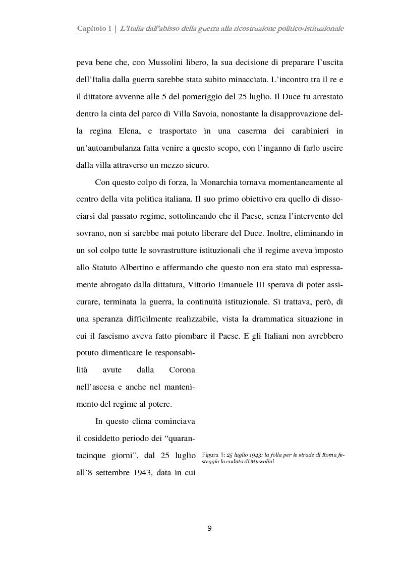 Anteprima della tesi: Istituzioni, opinione pubblica e stampa nella transizione tra Monarchia e Repubblica, Pagina 5