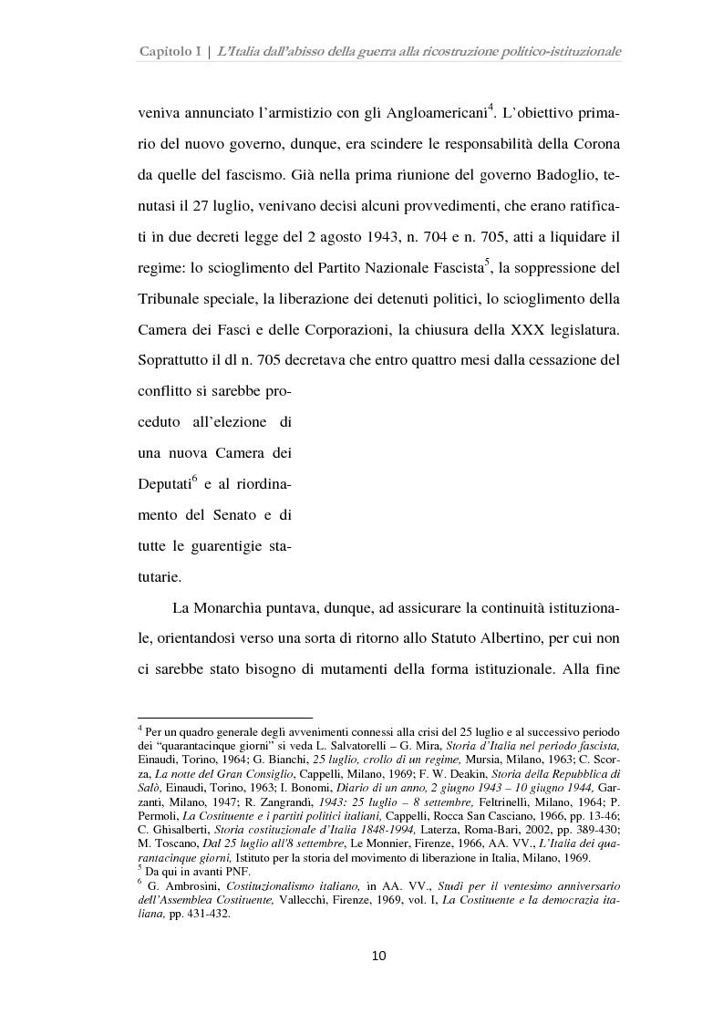 Anteprima della tesi: Istituzioni, opinione pubblica e stampa nella transizione tra Monarchia e Repubblica, Pagina 6