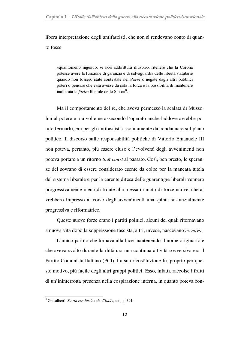 Anteprima della tesi: Istituzioni, opinione pubblica e stampa nella transizione tra Monarchia e Repubblica, Pagina 8