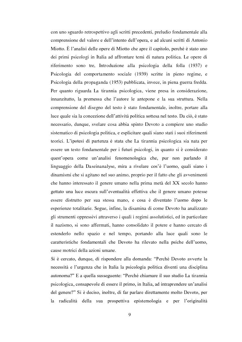 Anteprima della tesi: Psicologia politica e psicologia sociale in Andrea Devoto (1927-1994), Pagina 6