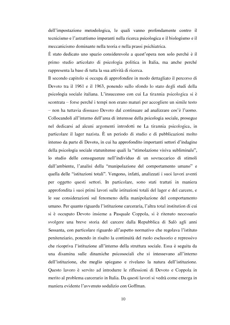 Anteprima della tesi: Psicologia politica e psicologia sociale in Andrea Devoto (1927-1994), Pagina 7
