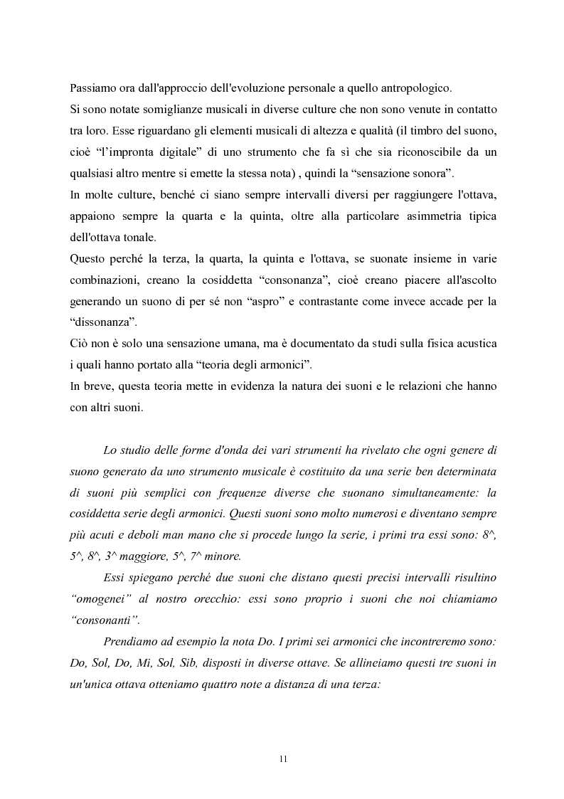Anteprima della tesi: L'apprendimento della musica nella pedagogia contemporanea., Pagina 11