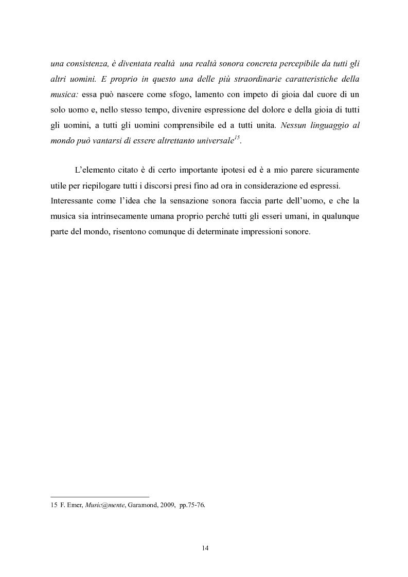 Anteprima della tesi: L'apprendimento della musica nella pedagogia contemporanea., Pagina 14