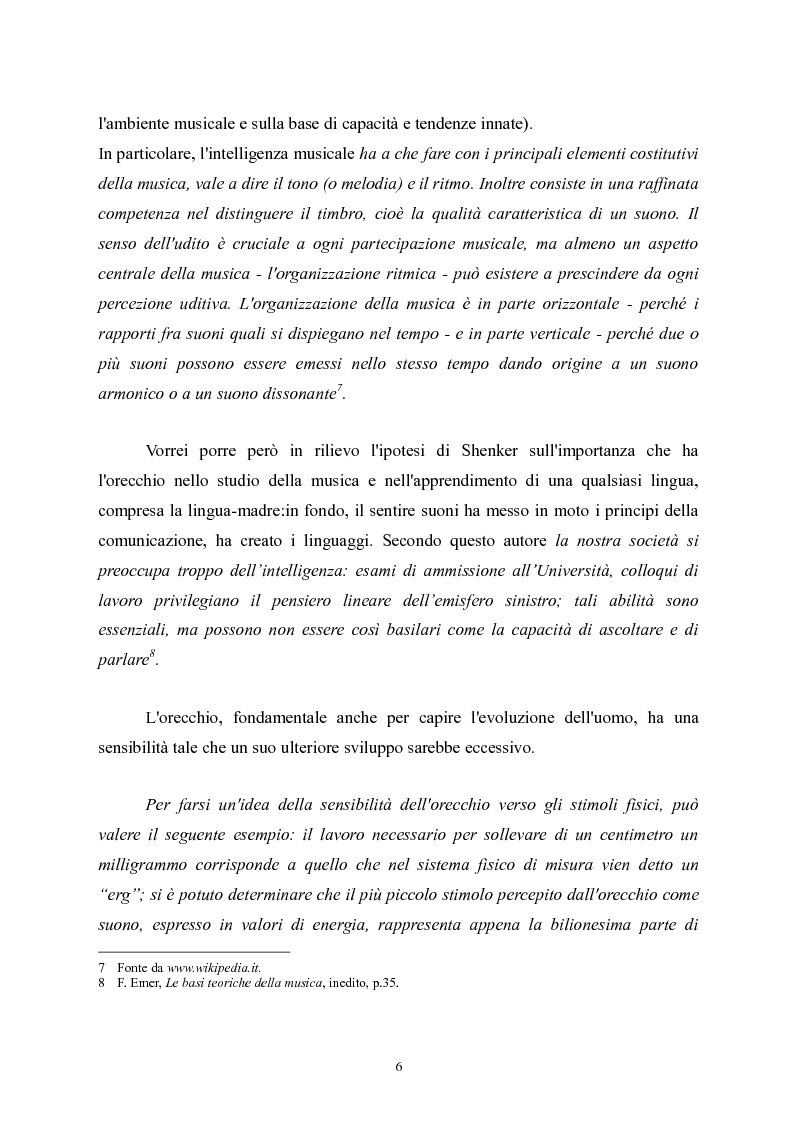 Anteprima della tesi: L'apprendimento della musica nella pedagogia contemporanea., Pagina 6