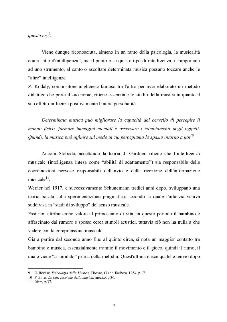Anteprima della tesi: L'apprendimento della musica nella pedagogia contemporanea., Pagina 7