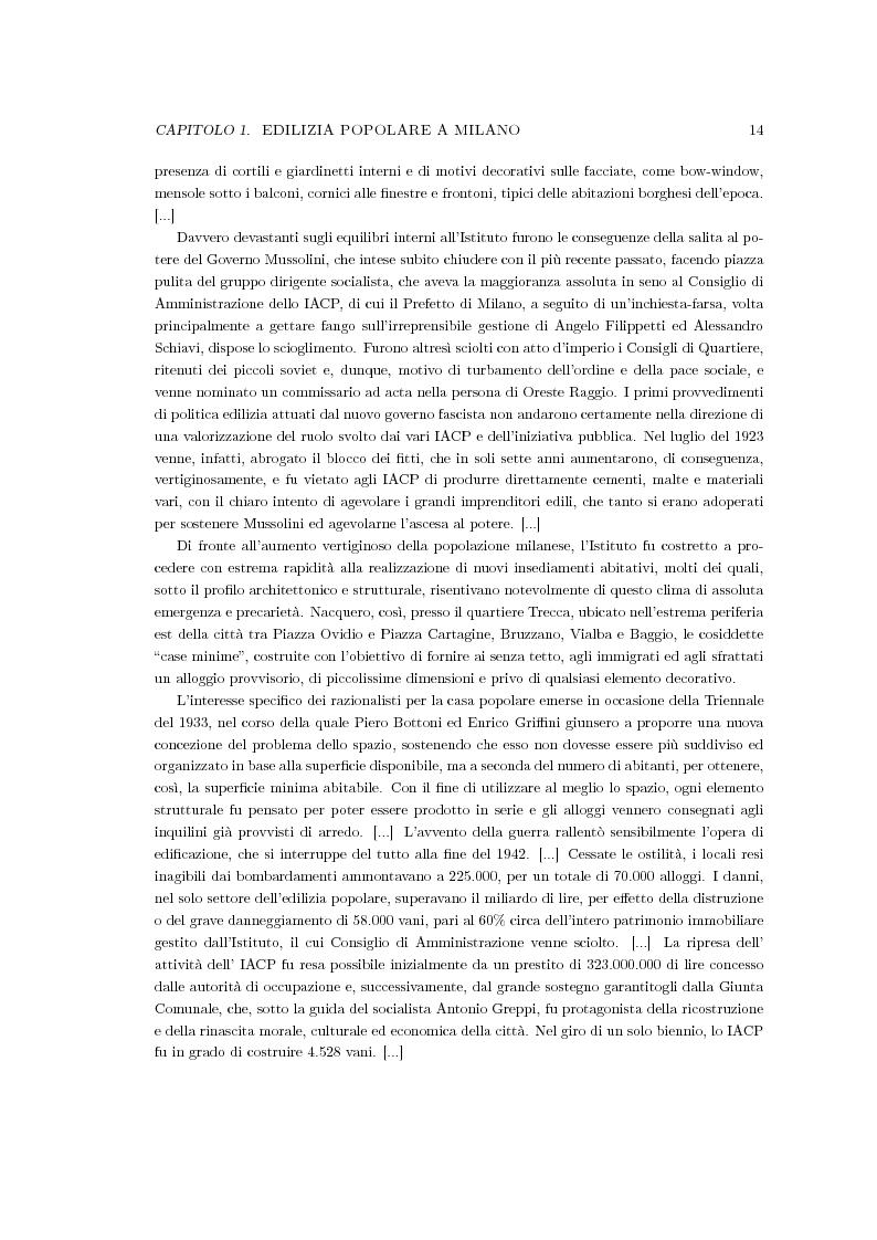 Anteprima della tesi: Riqualificazione urbana area ALER, Quartiere Giambellino, Milano, Pagina 3