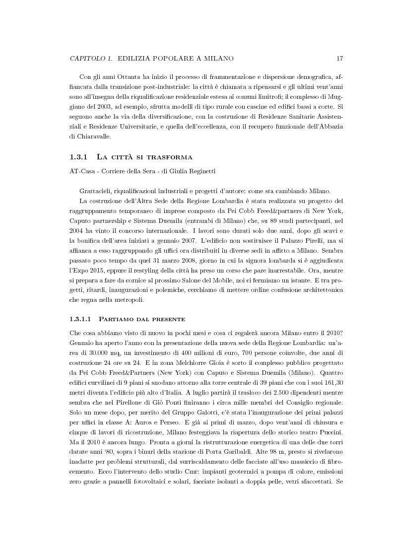 Anteprima della tesi: Riqualificazione urbana area ALER, Quartiere Giambellino, Milano, Pagina 5