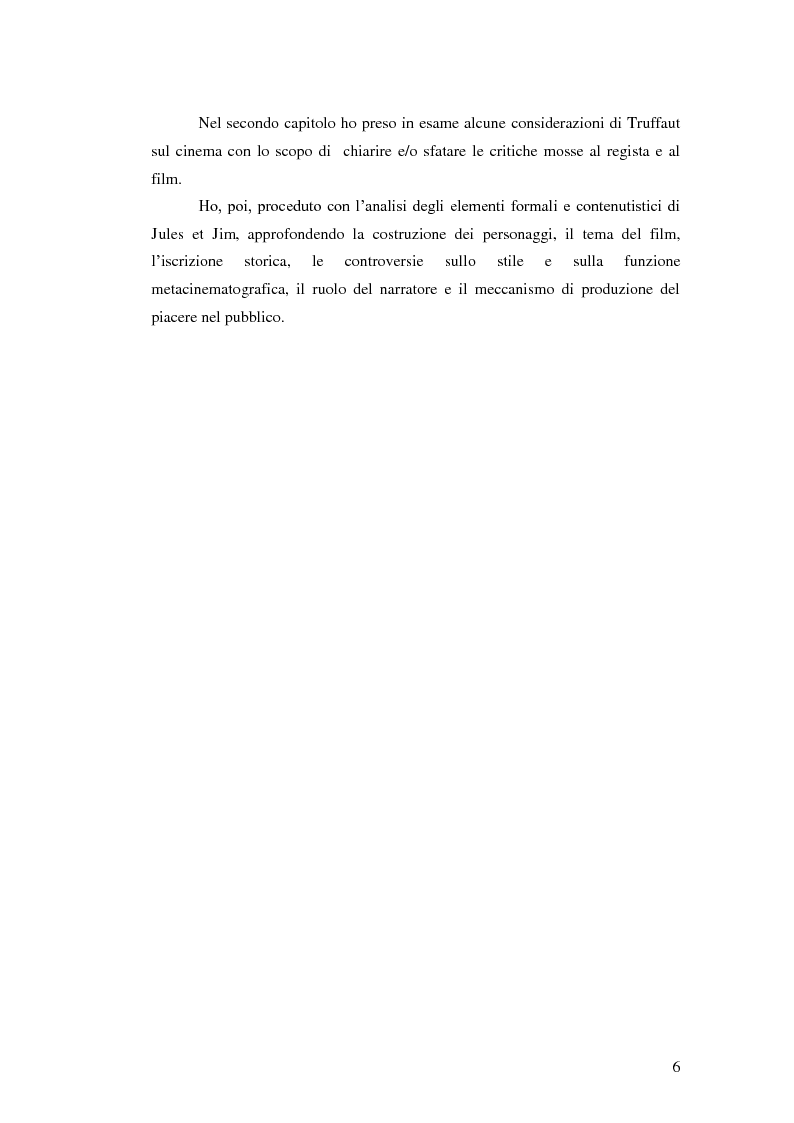 Anteprima della tesi: Jules et Jim attraverso gli occhi della critica, Pagina 5