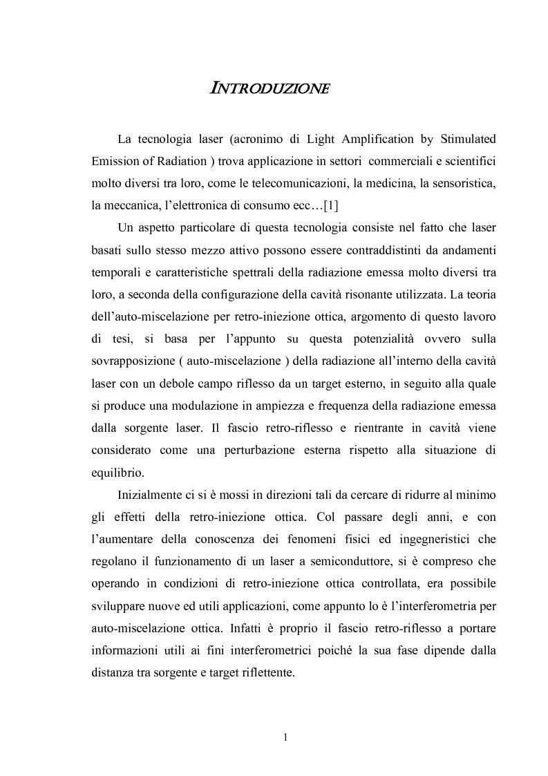 Anteprima della tesi: Misura del modulo di Young tramite interferometria per auto-miscelazione di fase, Pagina 2