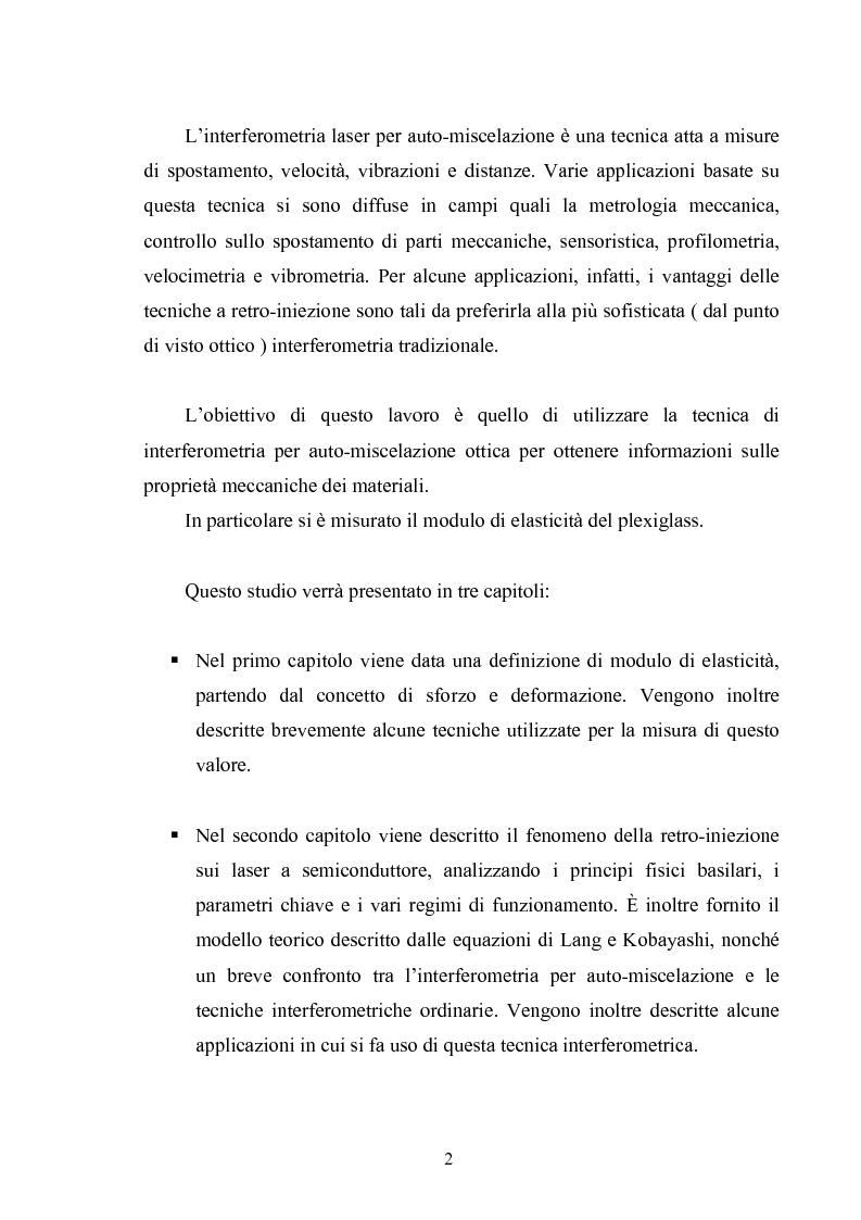Anteprima della tesi: Misura del modulo di Young tramite interferometria per auto-miscelazione di fase, Pagina 3