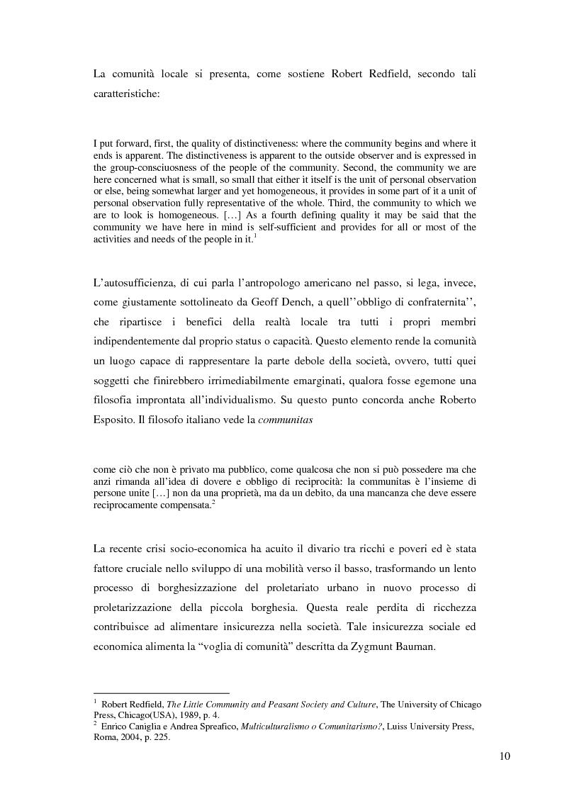 Anteprima della tesi: La nascita e lo sviluppo del comunitarismo politico nella Gran Bretagna del New Labour, Pagina 7