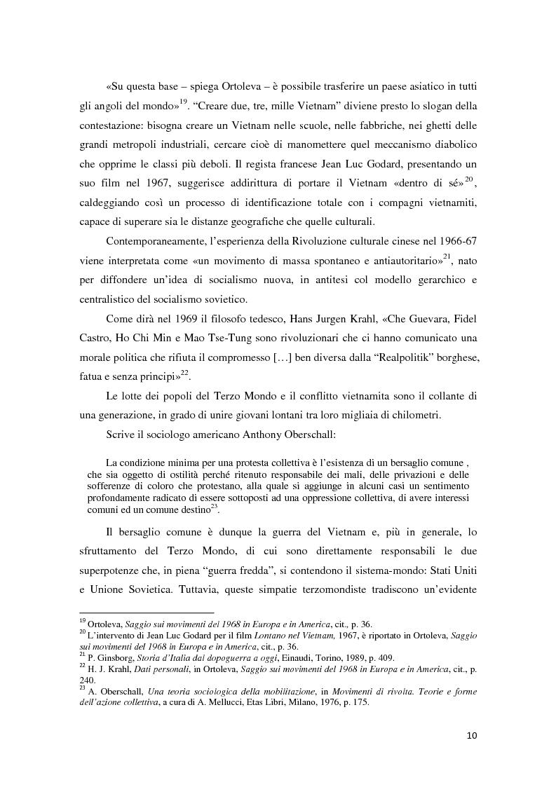 Anteprima della tesi: Contestazione studentesca e opinione pubblica tra il 1968 e il 1977, Pagina 5