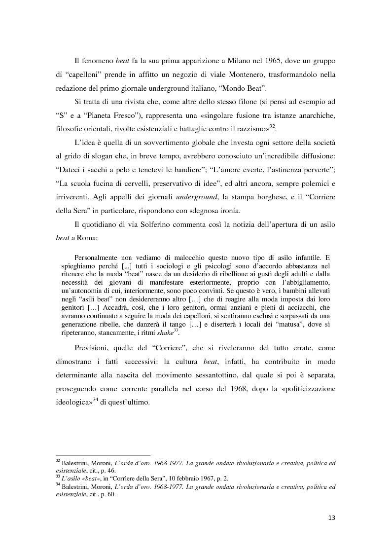 Anteprima della tesi: Contestazione studentesca e opinione pubblica tra il 1968 e il 1977, Pagina 8