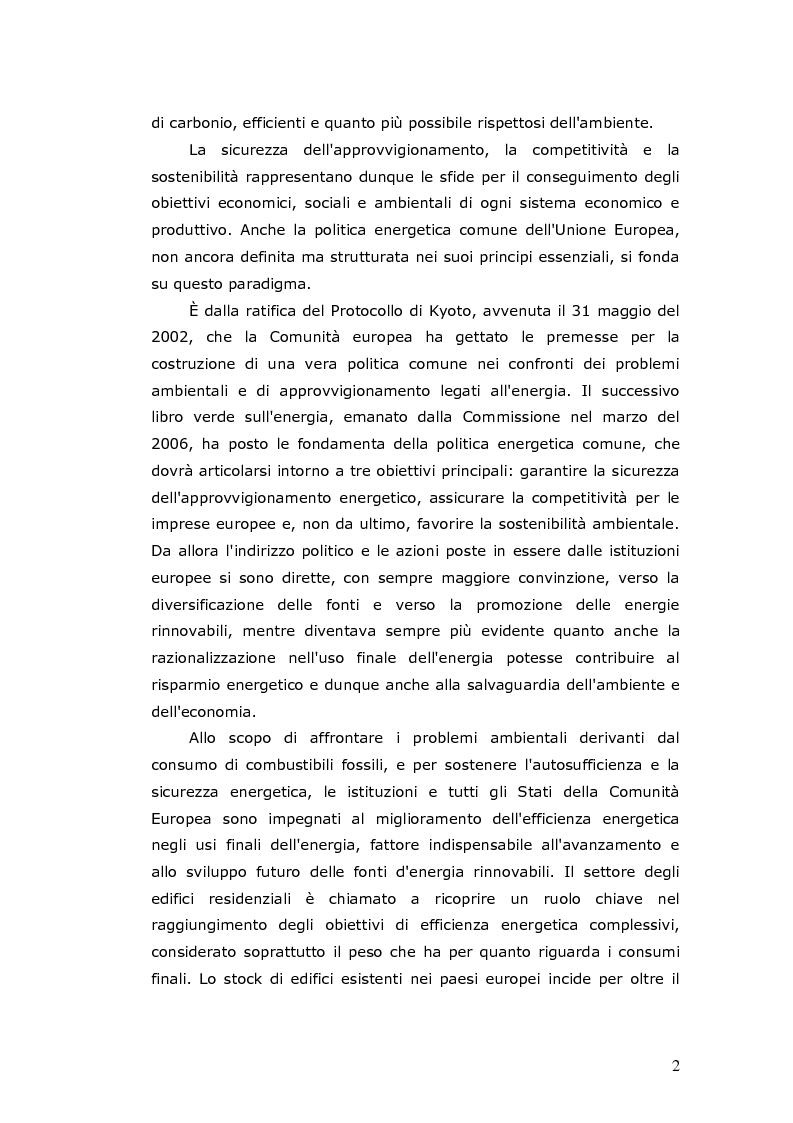 Anteprima della tesi: L'efficienza energetica degli edifici residenziali, Pagina 3