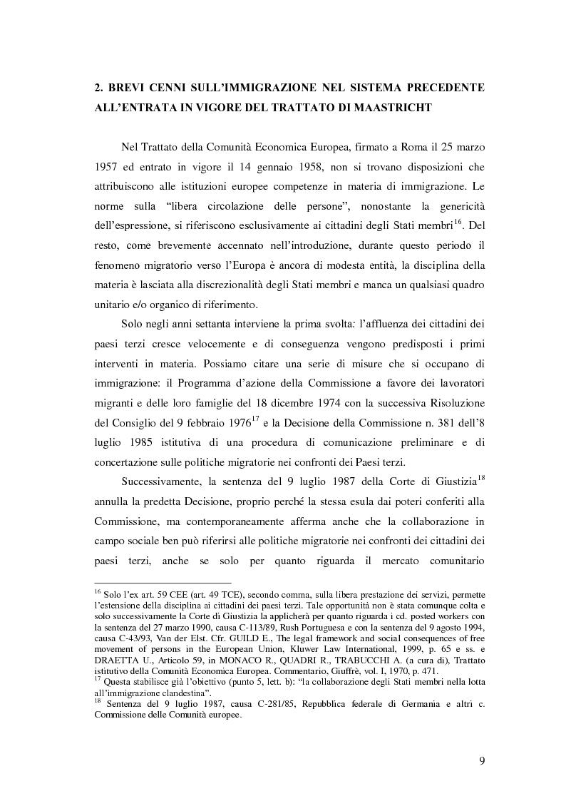 Anteprima della tesi: La Direttiva Rimpatri: Test case della procedura di codecisione in materia di immigrazione, Pagina 10