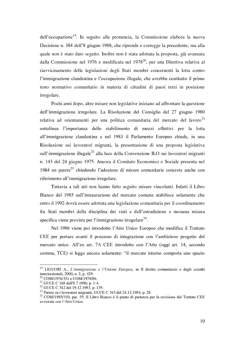 Anteprima della tesi: La Direttiva Rimpatri: Test case della procedura di codecisione in materia di immigrazione, Pagina 11