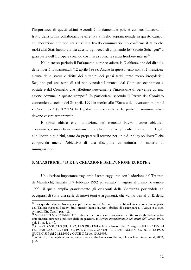 Anteprima della tesi: La Direttiva Rimpatri: Test case della procedura di codecisione in materia di immigrazione, Pagina 13