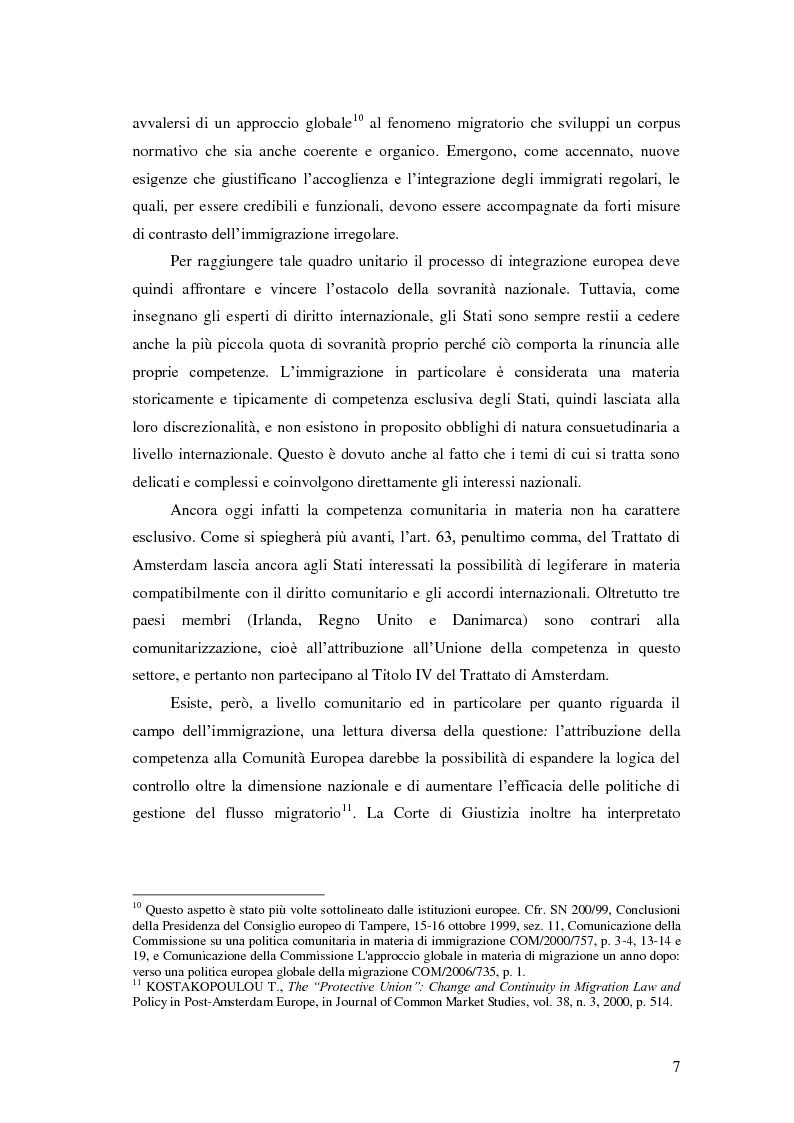 Anteprima della tesi: La Direttiva Rimpatri: Test case della procedura di codecisione in materia di immigrazione, Pagina 8