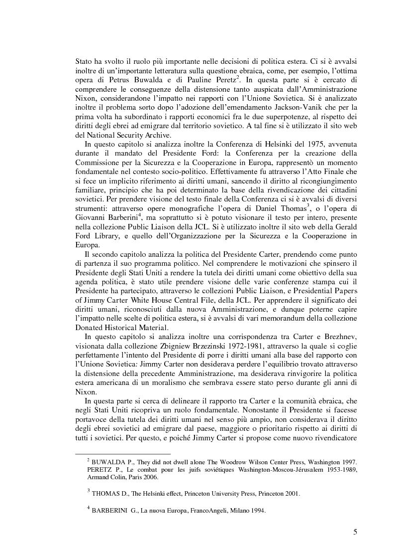 Anteprima della tesi: Politica estera degli Stati Uniti in tema di diritti umani da Nixon a Carter, Pagina 3