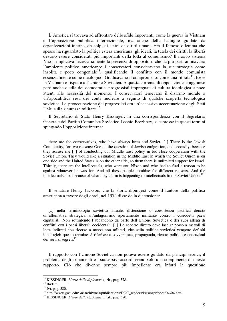 Anteprima della tesi: Politica estera degli Stati Uniti in tema di diritti umani da Nixon a Carter, Pagina 7