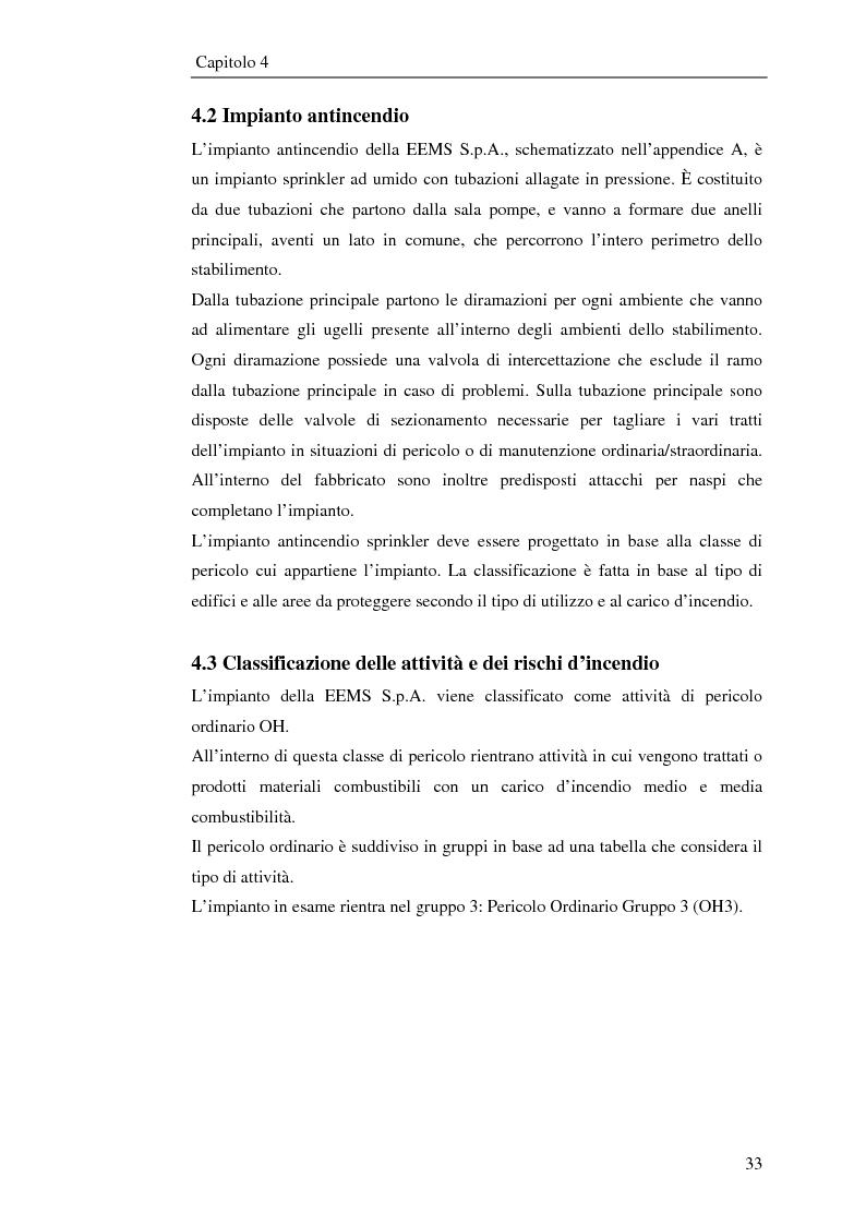Anteprima della tesi: Impianto antincendio a servizio di un'industria elettronica, Pagina 4