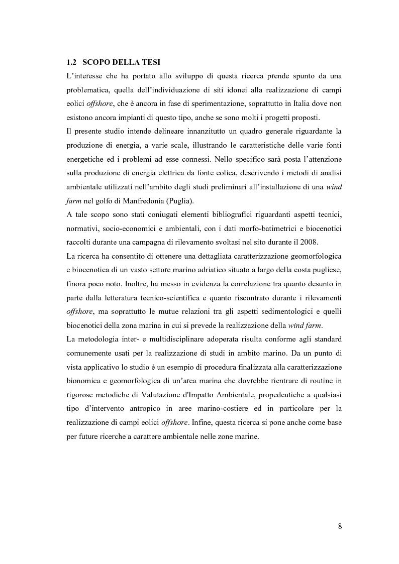 Anteprima della tesi: Analisi ambientale per la realizzazione di un campo eolico offshore nel Golfo di Manfredonia (FG), Pagina 5