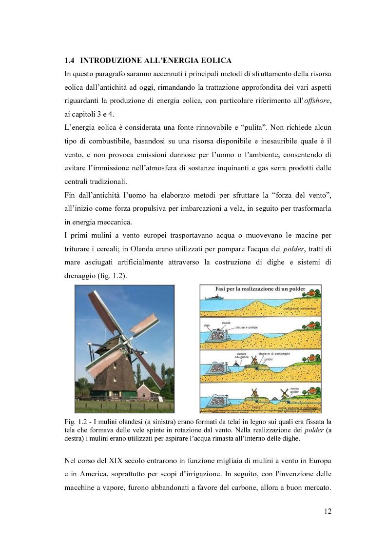 Anteprima della tesi: Analisi ambientale per la realizzazione di un campo eolico offshore nel Golfo di Manfredonia (FG), Pagina 9