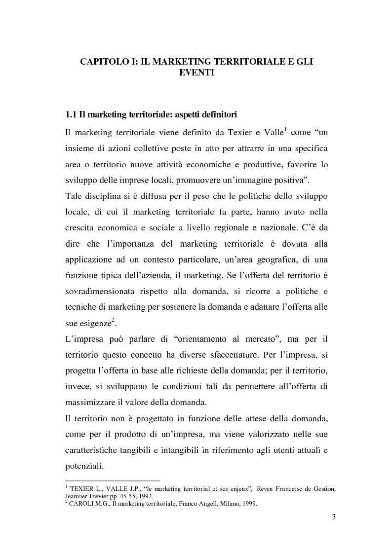 Anteprima della tesi: Marketing degli eventi e sviluppo territoriale: il caso ''Giochi del Mediterraneo Pescara 2009'', Pagina 4
