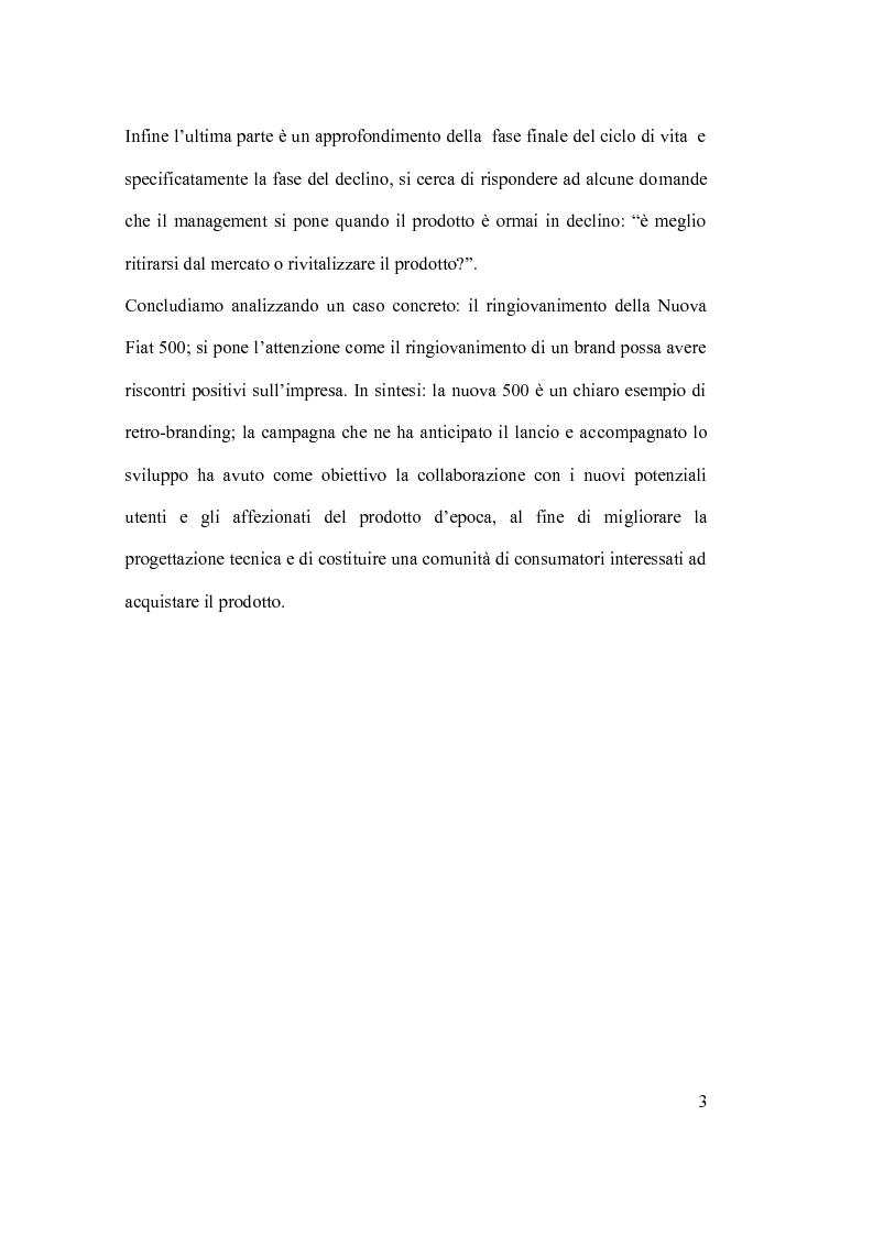 Anteprima della tesi: Ciclo vita prodotto e sue applicazioni., Pagina 3