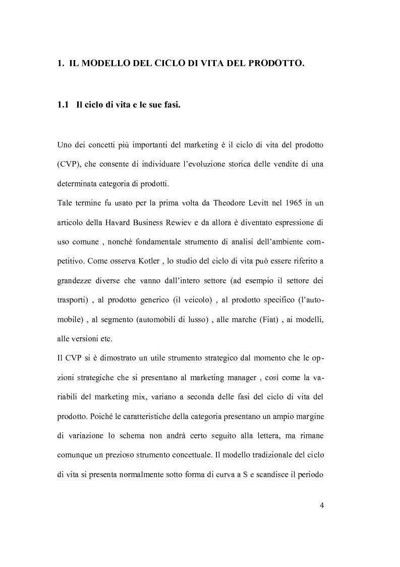 Anteprima della tesi: Ciclo vita prodotto e sue applicazioni., Pagina 4