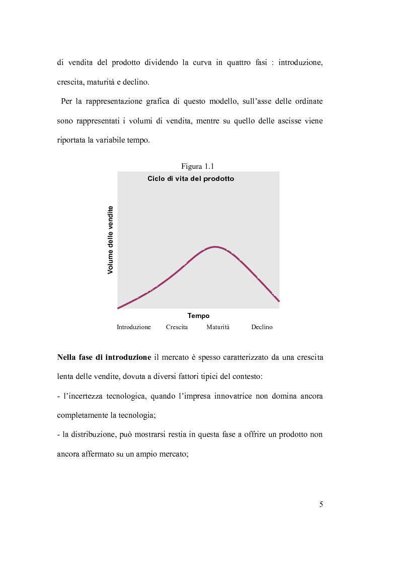 Anteprima della tesi: Ciclo vita prodotto e sue applicazioni., Pagina 5