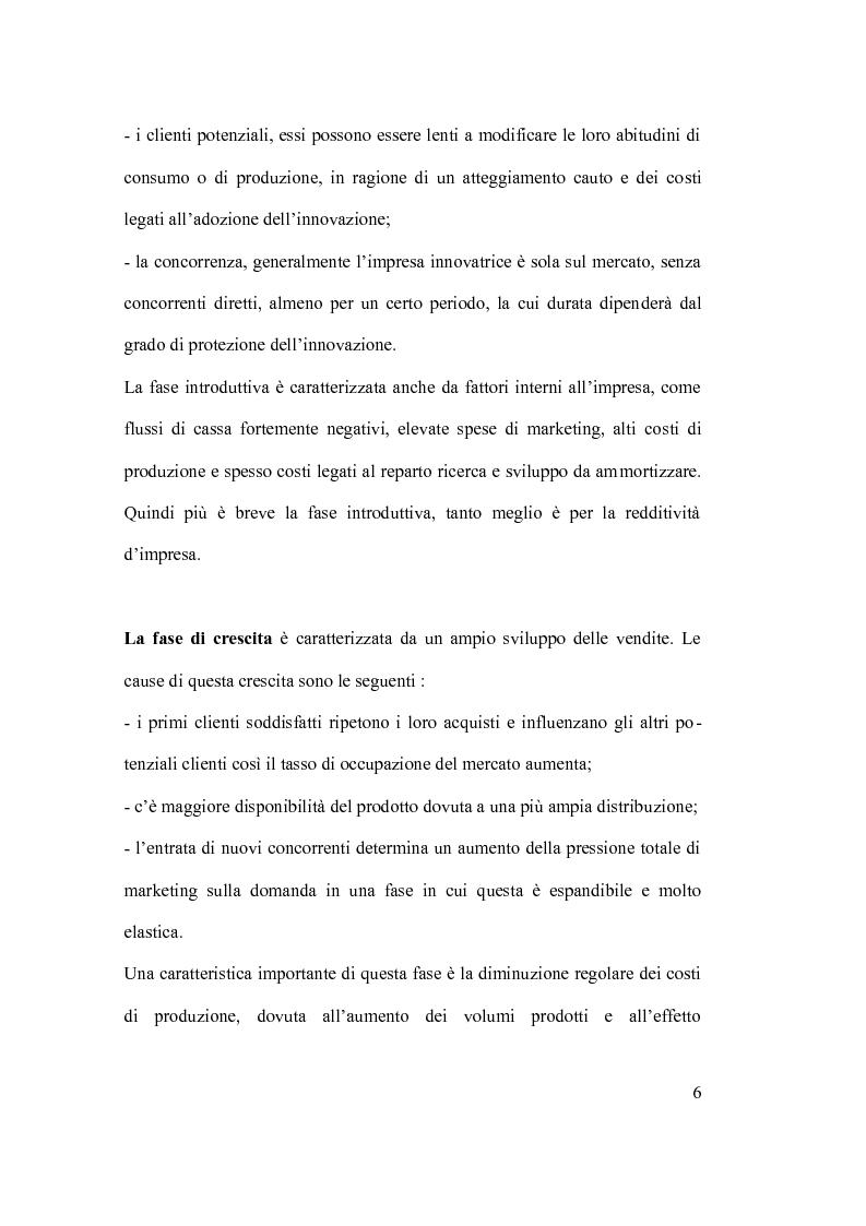 Anteprima della tesi: Ciclo vita prodotto e sue applicazioni., Pagina 6