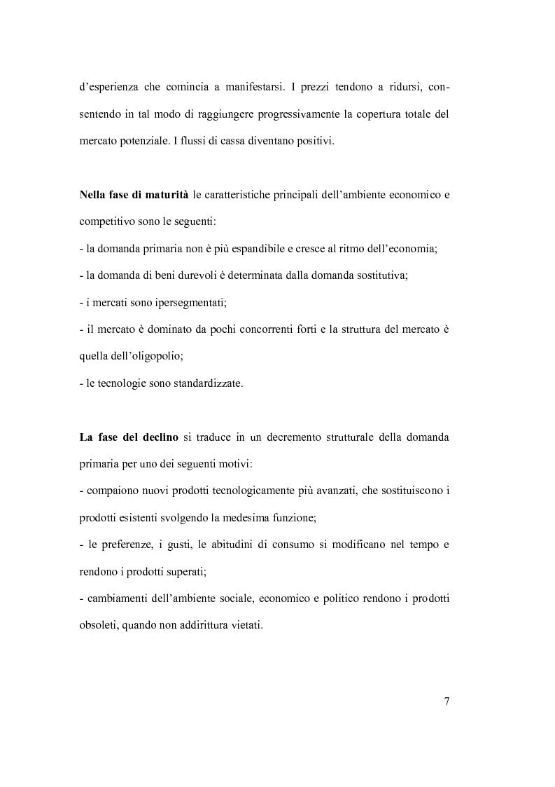 Anteprima della tesi: Ciclo vita prodotto e sue applicazioni., Pagina 7